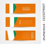 set of three horizontal banners ...   Shutterstock .eps vector #1315379057
