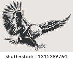 predatory bird eagle isolated... | Shutterstock .eps vector #1315389764