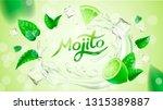 realistic vector fresh mojito...   Shutterstock .eps vector #1315389887