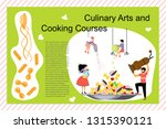 culinary art and cooking... | Shutterstock .eps vector #1315390121