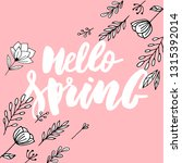 spring sale background with... | Shutterstock .eps vector #1315392014