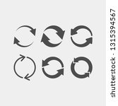 recycling flat vector icons set.... | Shutterstock .eps vector #1315394567