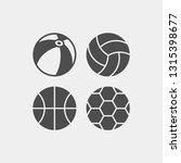 balls flat vector icons set.... | Shutterstock .eps vector #1315398677