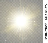 white sparks and golden stars... | Shutterstock .eps vector #1315400597