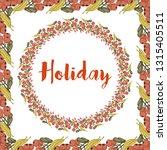 flower illustration with frame | Shutterstock .eps vector #1315405511