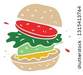 hand drawn quirky cartoon... | Shutterstock .eps vector #1315413764