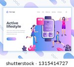 landing page template active... | Shutterstock .eps vector #1315414727