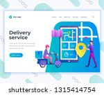 landing page template delivery... | Shutterstock .eps vector #1315414754
