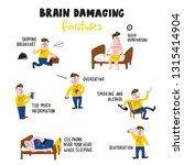 brain damaging factors....   Shutterstock .eps vector #1315414904