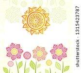 sun and flowers. vector... | Shutterstock .eps vector #1315423787