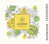 background with jasmine  flower ... | Shutterstock .eps vector #1315424201