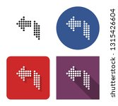 dotted icon of left... | Shutterstock . vector #1315426604