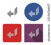 dotted icon of left... | Shutterstock . vector #1315426607