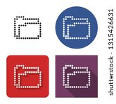 dotted icon of folder in four... | Shutterstock . vector #1315426631