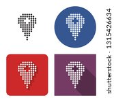 dotted icon of location in four ... | Shutterstock . vector #1315426634