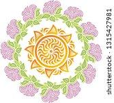 sun and flowers. vector... | Shutterstock .eps vector #1315427981