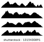 set of mountains silhouettes on ... | Shutterstock .eps vector #1315430891