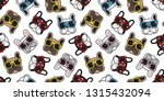 dog seamless pattern french... | Shutterstock .eps vector #1315432094