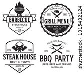 steak house  barbecue  bbq... | Shutterstock .eps vector #1315432124