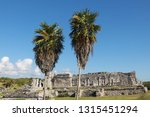 maya temples of  tulum  mexico. | Shutterstock . vector #1315451294