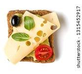 open faced sandwich crostini...   Shutterstock . vector #1315452917