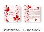 festive greeting card design... | Shutterstock .eps vector #1315453547