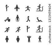 vector set of fitness people... | Shutterstock .eps vector #1315459604