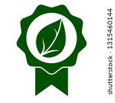 green leaf seal icon. official...   Shutterstock . vector #1315460144