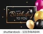 glossy happy birthday balloons... | Shutterstock .eps vector #1315464644