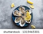 set of half dozen fresh opened... | Shutterstock . vector #1315465301