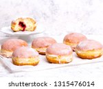 traditional polish donuts with... | Shutterstock . vector #1315476014
