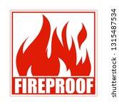 fireproof square icon  logo... | Shutterstock .eps vector #1315487534