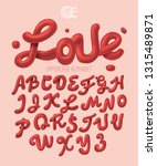 love alphabet with uppercase... | Shutterstock .eps vector #1315489871