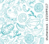 seamless pattern with seafood... | Shutterstock .eps vector #1315499117