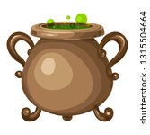 old cauldron icon. cartoon of... | Shutterstock .eps vector #1315504664