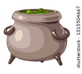 magic potion cauldron icon.... | Shutterstock .eps vector #1315504667