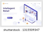 landing page with giant... | Shutterstock .eps vector #1315509347
