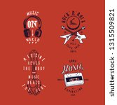 music t shirt print set  music...   Shutterstock .eps vector #1315509821