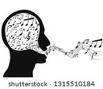 people singing with music notes | Shutterstock .eps vector #1315510184