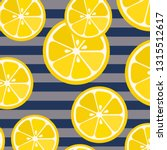 cute yellow lemon slices on... | Shutterstock .eps vector #1315512617