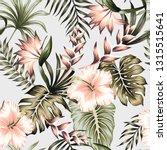 tropical vintage green floral... | Shutterstock .eps vector #1315515641