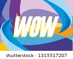 wow  beautiful greeting card... | Shutterstock .eps vector #1315517207
