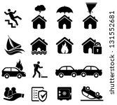 disaster icon set | Shutterstock .eps vector #131552681