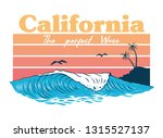 big ocean perfect wave on... | Shutterstock .eps vector #1315527137