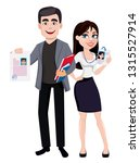 business man and business woman ... | Shutterstock .eps vector #1315527914