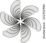 feathery like fan of wing like... | Shutterstock .eps vector #131552984