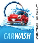 car wash with water | Shutterstock .eps vector #1315531694