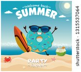 vintage durian poster design... | Shutterstock .eps vector #1315537064