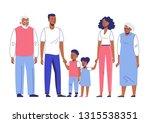 happy young african american... | Shutterstock .eps vector #1315538351