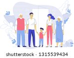 happy young family dad  mom ... | Shutterstock .eps vector #1315539434